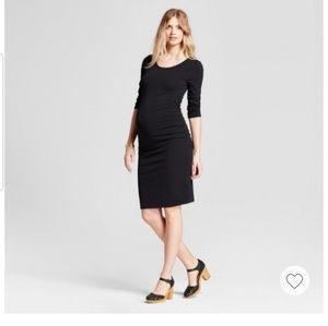 L Maternity black dress
